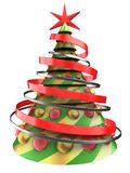 abstrakt tree för jul 3d stock illustrationer