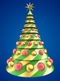 abstrakt tree för jul 3d vektor illustrationer
