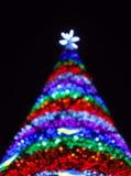 abstrakt tree för julexponeringsström Arkivbild
