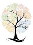 Abstrakt tree - säsonger vektor illustrationer