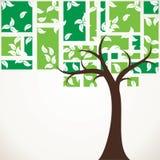 Abstrakt treebakgrund Royaltyfri Bild