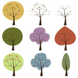 abstrakt trees Arkivfoton