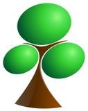 abstrakt treevektor Vektor Illustrationer