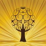 Abstrakt treewhitstrålar. Royaltyfri Fotografi