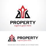 Abstrakt triangel Logo Template Design Vector, emblem, designbegrepp, idérikt symbol, symbol Royaltyfri Foto