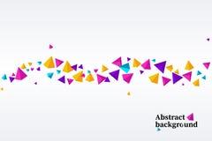 abstrakt triangel Mall för teknologipresentation stock illustrationer