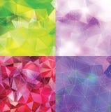 Abstrakt triangelbakgrundsuppsättning Fotografering för Bildbyråer