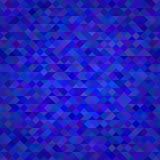 Abstrakt triangelblåttbakgrund royaltyfri illustrationer