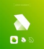 Abstrakt triangelbokstav b eller origami utformar logomallen _ Arkivbild