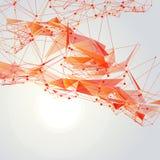 Abstrakt triangelingreppsbakgrund  Royaltyfri Foto
