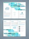 Abstrakt Trifold broschyr-, mall- eller reklambladdesign Royaltyfri Foto