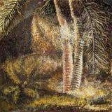 Abstrakt Tropikalny las i góry Palmy Obrazy Royalty Free