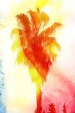Abstrakt tropiskt landskap Arkivfoto