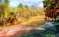 Abstrakt tropiskt landskap Arkivbild