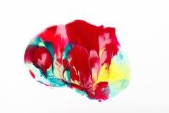 Abstrakt tryck, modern konst, idérik färgmålarfärg Arkivfoton