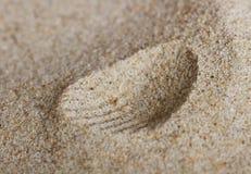 Abstrakt tryck på sanden Arkivbild