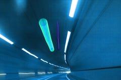 Abstrakt tunnel för hastighetsrörelsehuvudväg Fotografering för Bildbyråer