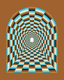 Abstrakt tunnelillusion royaltyfri illustrationer