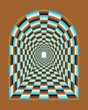 Abstrakt tunnelillusion Arkivfoto