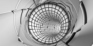 Abstrakt tunnelteknologibakgrund Royaltyfri Fotografi