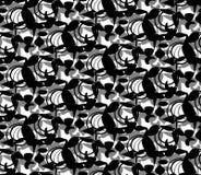Abstrakt Tupocze czerń na bielu Zdjęcia Stock