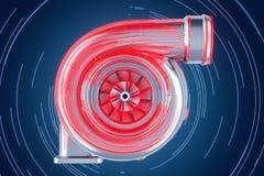Abstrakt turboladdarebegrepp, 3D Arkivfoto