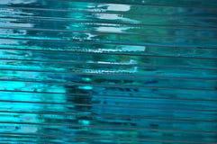 Abstrakt turkos för exponeringsglas Arkivfoton