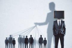 Abstrakt TV hjärntvättar bakgrund Arkivbild