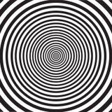 Abstrakt twirling hipnotyczną spiralę ilustracji