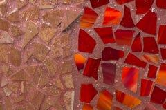 Abstrakt twotone dekorativ mosaikvägg Arkivfoton