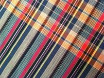 abstrakt tyg för texturplädbomull av färgrik bakgrund Fotografering för Bildbyråer