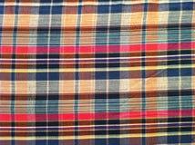 abstrakt tyg för texturplädbomull av färgrik bakgrund Royaltyfria Bilder
