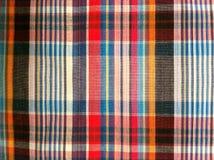 abstrakt tyg för texturplädbomull av färgrik bakgrund Royaltyfri Fotografi