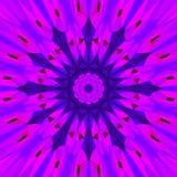 Abstrakt ultraviolett bakgrund, mandalakalejdoskopeffekt Fotografering för Bildbyråer
