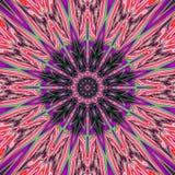 Abstrakt ultraviolett mandalabakgrund med regnbågestrålar planlägger Arkivfoton