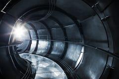 Abstrakt underjordisk industriell avloppsnät Fotografering för Bildbyråer