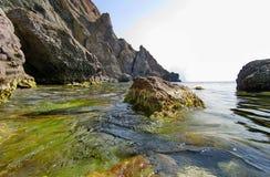 Abstrakt undervattens- plats av havet, Turkiet Arkivfoto