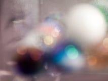 Abstrakt undervattens- sammansättning med färgrika glass bollar Royaltyfria Foton