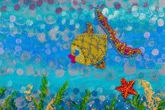 Abstrakt undervattens- seascape Arkivbilder