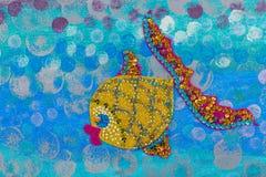 Abstrakt undervattens- seascape Royaltyfri Bild
