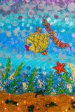Abstrakt undervattens- seascape Royaltyfri Fotografi