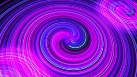 Abstrakt universumbakgrund med kreativitet snedvrider in i andra galaxer hastigheten av ljus, neonljus glöder i många färger I mo arkivfilmer
