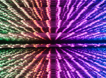 Abstrakt upplyst ljus designbakgrund Arkivbilder