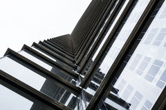 Abstrakt upprepande modell för modern byggnadsyttersida Arkivfoto
