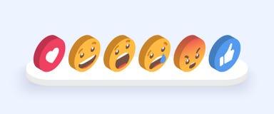 Abstrakt uppsättning av Emoticons Symboler för Emoji lägenhetstil på vit bakgrund 10 eps vektor illustrationer