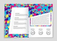 Abstrakt uppsättning för vektororienteringsbakgrund För konstmalldesign lista, förstasida, stil för modellbroschyrtema, baner, id Royaltyfri Bild