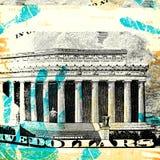 Abstrakt US-dollar Arkivbild