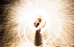 Abstrakt utomhus- branddiagram som bränner Royaltyfri Foto