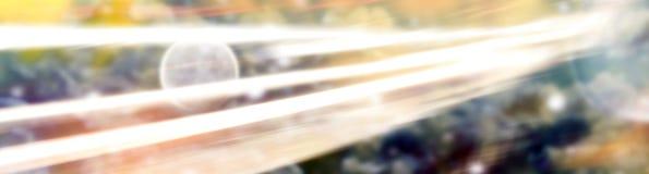 Abstrakt utrymmebakgrund med ljusa linjer Fotografering för Bildbyråer