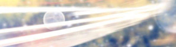 Abstrakt utrymmebakgrund med ljusa linjer Arkivbild